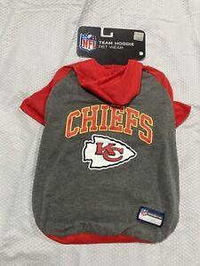 Kansas City Chiefs Dog Sweater, Sz L, NWT! NFL Team Pet Wear, Dog Hoodie!