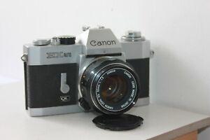 Canon EX Auto QL 35mm SLR Film Camera & 50mm Lens Kit.Tested.Free Warranty.