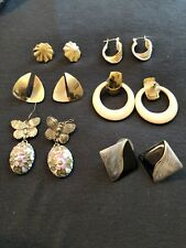 Lot Of 6 Vintage Gold Earring