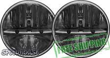 "Rigid Industries Truck-Lite 7"" Round LED Headlight Kit Black Non-JK 55009"