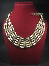 N3991 LOT OF 5 Tribal Ethnic TIBET Bone Strand Choker Handmade Necklace Jewelry