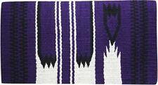 "PURPLE 36"" x 34"" 100% New Zealand Wool Western Show Saddle Blanket! NEW TACK!!"