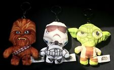 "Star Wars Soft Toys with Bag/Pram Clip ~ Approx 6"" ~ VGC ~ Collectable"
