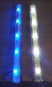 TMC Aquaray / Aquabeam pair of older style strip lights, 1 white 1 blue