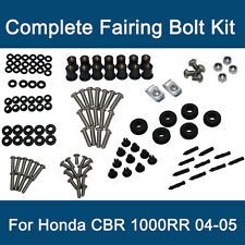 Black Honda CBR1000RR CBR 1000RR 2004 2005 Complete Fairing Bolt Kit Screws