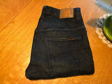 NUDIE TAPE TED STRAIGHT CUT JEANS 32 X 33 EUC VERY NICE!