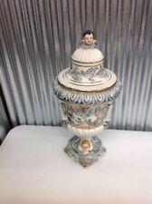 Capodimonte ~ Vintage ~ Urn ~ Cherubs ~ Lidded ~ Lion Handles???