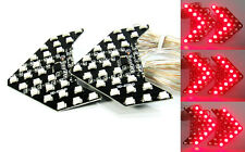 2x Universal Fit RED 27 SMD LED Sequential Side Mirror Turn Signal Blinker Light