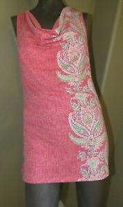 Athleta Women's Tunic Sleeveless Top Shirt Sz Small Pink, White, Green, Purple
