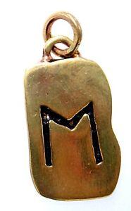 Rune Runen Anhänger Bronze Buchstabe E Ehwaz Eh Pferd Zusammenarbeit 104