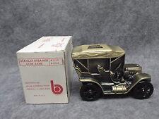 Banthrico 1974 Car Coin Bank Bronze Finish 1910 Stanley Steamer MIB MINT IN BOX