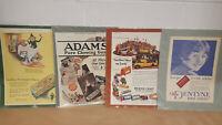 Four Vintage Magazine Ads