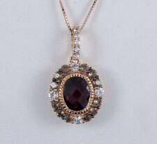 Gioielli di lusso rossi in oro rosa 14 carati