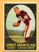 1958 Topps #45 Chet Hanulak (VG-EX) --  Cleveland Browns