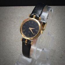 Vintage Beautiful Gucci Quartz Women's Swiss Made Black & Gold Watch Ladies VTG