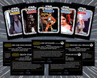 STAR WARS: (5 Card Lot) 1977 Topps Style Custom Kenner 12 Back Trading Cards (D)