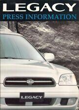 Subaru Legacy Estate & Outback 1998-99 UK Market Press Pack