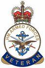 HM ARMED FORCES VETERAN STICKER UK - CARS - VANS - WINDOWS - LAPTOPS