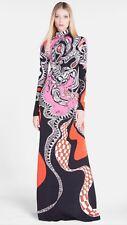 dress women party long elegant Pucci  Italian size 44 Fits As Xl 100%Silk Jersey