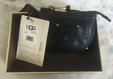 NWT Uggs black leather coin purse