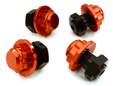 C26812RED Integy Machined Alloy 17mm Hex Wheel Hub (4) for HPI Savage XS Flux