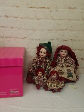 "Marie Osmond Collector Series Twins Porcelain 4 Dolls Hansel & Gretel 18"" & 8"""