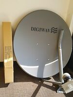 high quality 33 inches Digiwave free to air dish with single LNB made in Taiwan