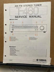 Original Yamaha Service Manual for the T-460 Tuner Repair