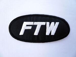 FTW Fuck The World Patch Aufnäher Badge Aufbügler Kutte Biker