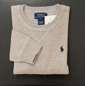 New Polo Ralph Lauren Boys GRAY Sweater - Size 6
