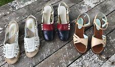 3 Vtg Pair Sandals Women Shoes Retro Mcm YoYo Smartaire Study Antique Sz 5.5 Lot