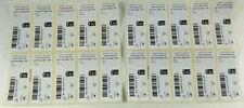 Lot 20 etiquettes de lettre suivie internationale sans les timbres  Envoi suivi