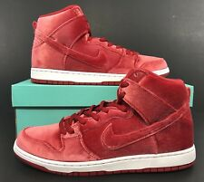 best service 87e6b 21ab6 Nike SB Dunk High Premium Christmas Velvet Gym Red White Size 12