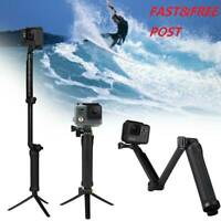 Adjustable 3 Way Monopod Selfie Pole Stick Camera Tripod Mount GoPro Hero 5 4 3+