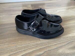 Dr Martens Single Monk Strap Shiney Black Shoes Uk7