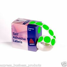 Bright Green Dot Avery Dispenser Pack 24mm Box of 500 - AD937297