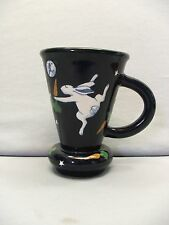 Karen Howell 1987 Pottery Dancing Rabbit with Carrots Under The Rabbit Moon Mug