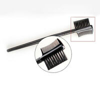 Cosmetic 2in1 Eye Brow Brush Dual End Eyelash Comb Makeup Tool