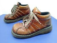 Dr. Martens Brown Leather Casual Shoes AW004  Size 8 GC08G Air Wair - Free Ship