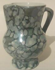 New ListingArt Pottery Personal Creamer Mottled Green Glaze