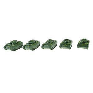 5Pcs  Launching Tank Armored Vehicle Model for War Game Landscape Toys