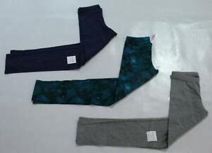 Old Navy Girl's 3-Pack Jersey Built-In Tough Leggings AH4 Grey/Blue Medium NWT