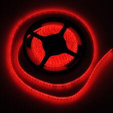 5M 600 LED 3528 SMD RED IP65 WATERPROOF FLEXIBLE LIGHT STRIP 120LEDS/METER 12V