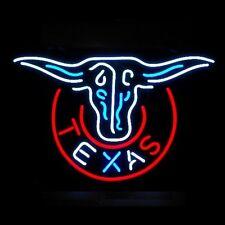 Texas Steer Neon Bar Sign
