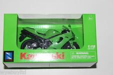 Newray Kawasaki Ninja ZX-6R Modelo Diecast/plástico verde Motocicleta Bicicleta 1:18