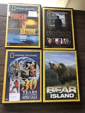 LOT OF 4 NATIONAL GEOGRAPHIC DVD BEAR ISLAND,30 YEARS OF SPECIALS,FORCES NATURE