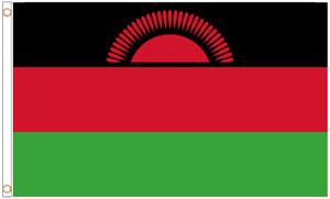 Malawi Polyester Flag - Choice of Sizes