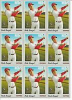 2019 Topps Heritage High NICK SENZEL Base Rookie LOT (x10) Reds RC #507