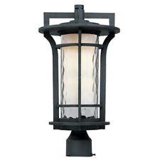 Maxim Oakville 1-Light Outdoor Pole/Post Lantern in Black Oxide - 30480WGBO