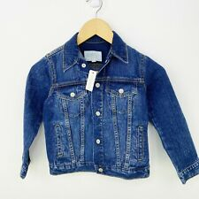 Boys hooded pullover jean jacket half zipper brand Cat and Jack NWT color blue